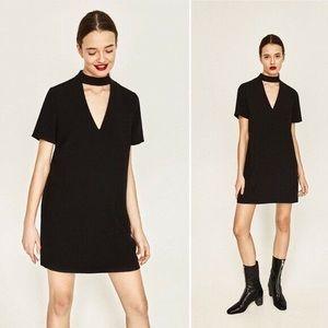 Zara | Shift Style Mini Dress with Chocker